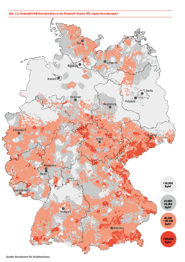 Radon map of Germany